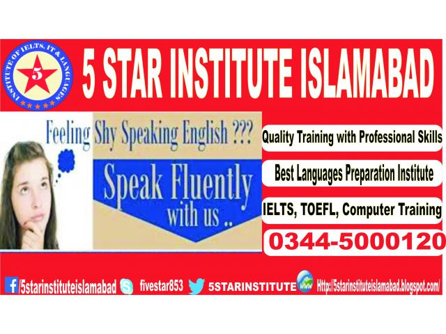 English Language Course for Exam Free Students with 5 STAR INSTITUTE ISLAMABAD