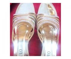 Fancy Heels Golden and silver - Metro shoes for sale in good amount