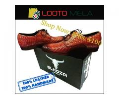 Executive Branded Shoes, 100% Leather & Hand Made