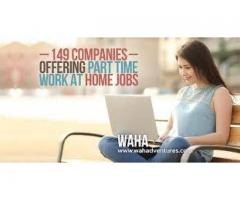 Company offering work to men and women for part time