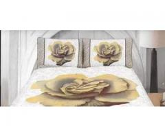 Reactive Printed Brown Color Bed Sheet Best Price for sale