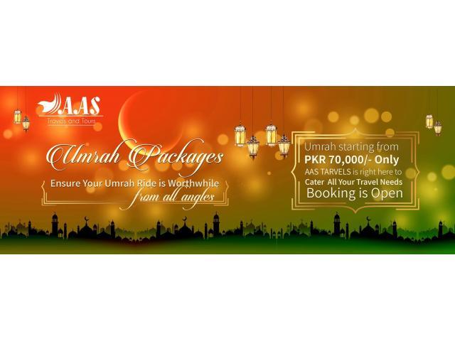 Umrah package in PKR 70,000/- only