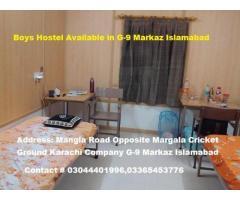 Boys hostel available in Karachi Company G-9 Markaz Islamabad