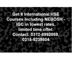 NEBOSH IGC (6 international certificate courses in the price of one. )
