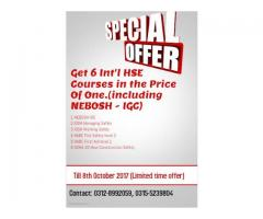 Nebosh - IGC and 5 other courses in just price of NEBOSH - IGC