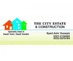 Sell / Purchase Plots 120, 240, 400 Sq Yd In Saadi Town / Saadi Garden