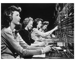 Telephone operator with a good amount of salary