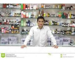 Medical store salesman required with a good face of smile