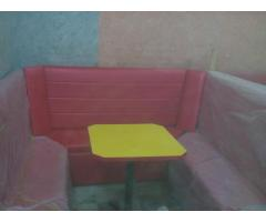 Furniture for cafe, ice cream bar, hotel etc. (sofy and tables)