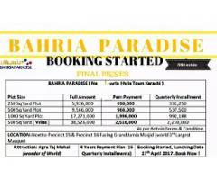 Bahria Paradise Bahria town karachi plots and Villas on installments