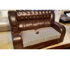 Leather new sofa 6 seater for sale