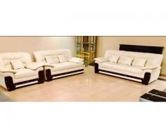 White Leather ka sofa new 6 seaters for sale