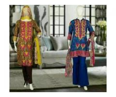 QNS original lawn embroidered unstitched for sale