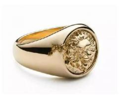 Zorrata 14 karat gold Lion ring Original Canadian Brand for sale