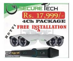 4 cameras cctv complete package with installation FOR SALE