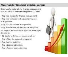 Finance assistant with a good salary