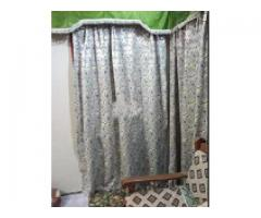 Curtains in green and silver color for sale