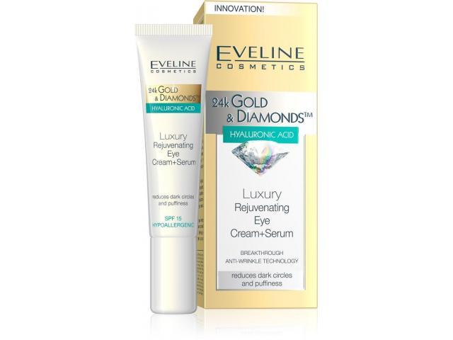 Eveline 24k Gold Diamond Luxury Rejuvenating Eye Cream Serum 15