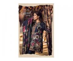 Baroque khaddar embroidered suit with wool shawl collection Code # BQ502