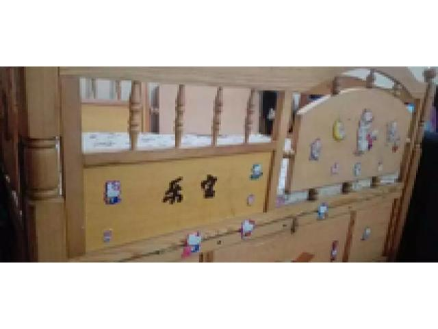 Baby cot with swing, mattress with neat condition for sale
