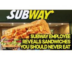 Staff required for Subway