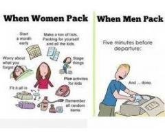 Male and female required for packing
