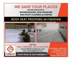 Roof Waterproofing and Roof Heat Proofing in Pakistan.