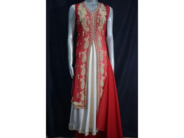 Stitched Designer Party Embroidered Party wear suit