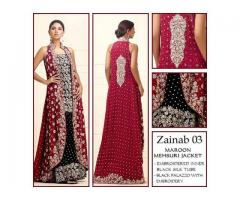Code# Zainab 03 - FULL EMBROIDERED COMPLETE 3 PIECE SUIT
