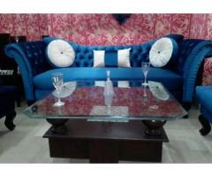 New classic three seater in shaneel fabric best quality man