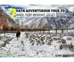 7 days adventurous tour to Hunza, Gilgit, Fairy Meadows