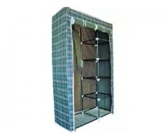 Clothes Hanging Wardrobe With Shelves - Multicolour FOR Sale
