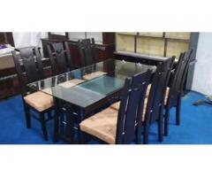 6 seater solid dining 2 designs for sale