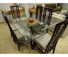 Dining table (Dining Table) 6 Chairs Top Glass