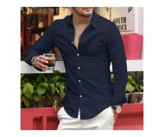 Brand Linen Men's Shirts Long Sleeve Male Slim Fit Casual Business Shirt