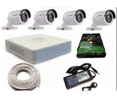4 CCTV Cameras with DVR Complete Package
