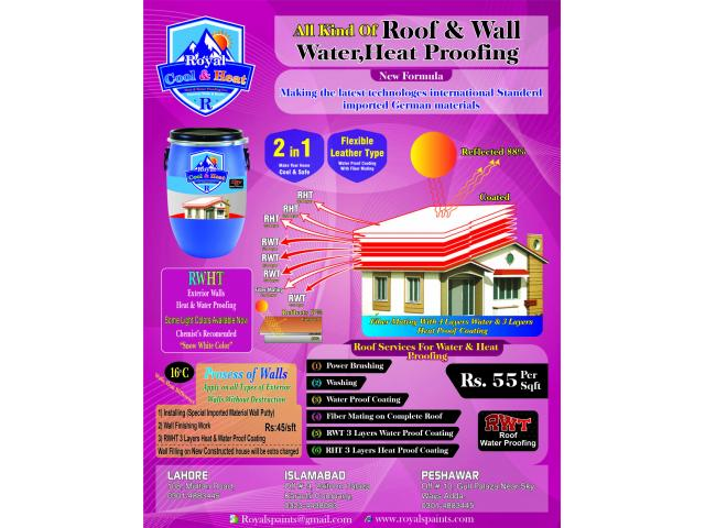 Roofs and Walls Waterproofing and Heat Proofing