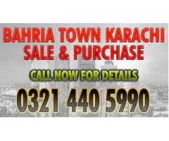 Bahria Town Karachi Residential & Commercial Plots Prices