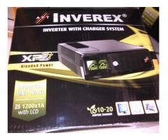 Digital 1200VA INVEREX UPS , inverter Single Battery (100AH-180AH) For Sale In Lahore