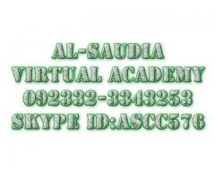 Al-Saudia Virtual Academy provides quality online Tutor