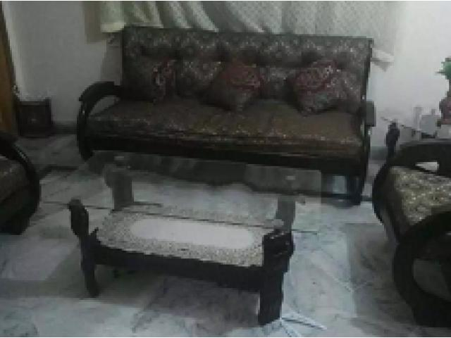 Sofa set with tables for sale condition is too good