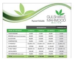 Gulshan E Mahmood Multan: 5, 7 & 10 Marla Residential Plots on installments