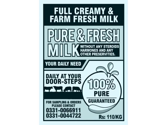 100% Pure & Fresh Milk At Your Doorstep