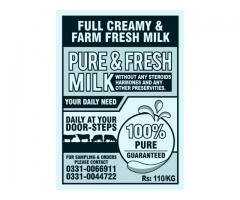 100% Pure & Fresh Milk At Your Doorstep