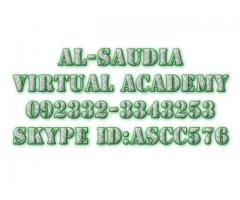 Tutoring online,Al-Saudia Virtual Academy is Pakistan
