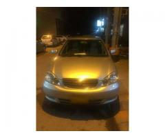 Toyota corolla Se.saloon 2004 for sale in good amount