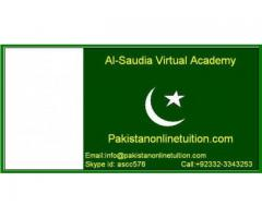 Pakistan expert online tutors, well experienced, highly educated