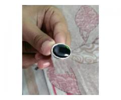 Black aqeeq in decent silver ring for sale see the good thing