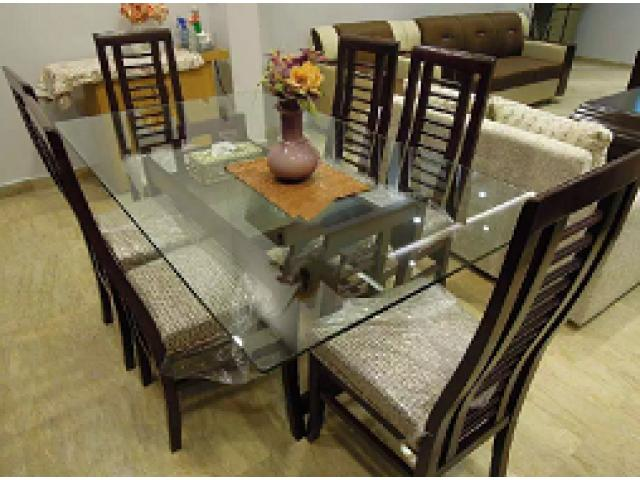 Dining Table Dining Table 6 Chairs Top Glass Lahore Local Ads