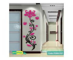 Rose flower 3D acrylic wall stickers Home modern brief Decor DIY Self-adhesive Removable decals